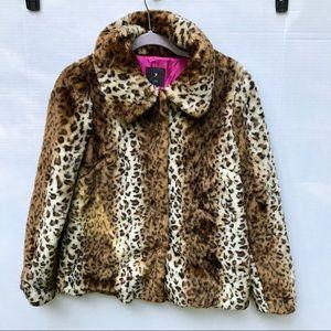 Forever 21 Faux Fur Leopard Print Jacket Size S